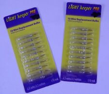 Light Keeper Pro 2 Packs of 10 Mini Replacement Bulbs 2.5 Volt Clear Christmas
