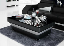 Design Glass Table Leather Couch Sofa Wohnzimmertische CT9008 B S