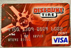 Old Expired Discount Tire Visa Old Credit Card