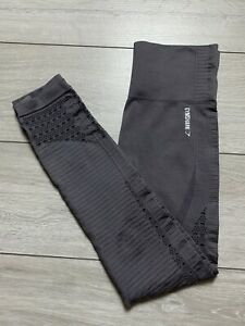 Women's GYMSHARK Energy+ Seamless High Waisted Leggings Size Small S Smokey Grey