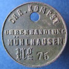 Old Rare Deutsche - Muhlhausen - Chr. Kompst - Uhrenhandlung - mehr am ebay.pl