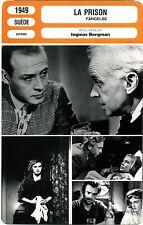 Fiche Cinéma. Movie Card. La prison / Fängelse (Suède) Ingmar Bergman 1949
