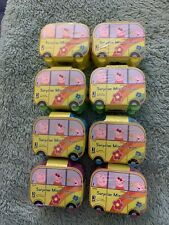 PEPPA PIG LOT OF 8 BLIND BOX Surprise Mini Camper With Figure Inside New 2019