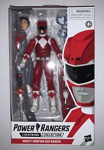 RED RANGER Mighty Morphin Power Rangers Lightning Collection Hasbro Jason NIB