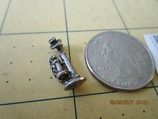 Sterling Silver 3D Antique Candlestick Phone Charm Pendant 204647