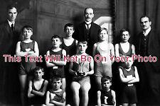CU 188 - School Swimming Team Irish St, Whitehaven Cumbria, Cumberland c1910
