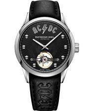 Freelancer AC/DC Limited Edition Black Leather Watch 42mm, black leather watch,