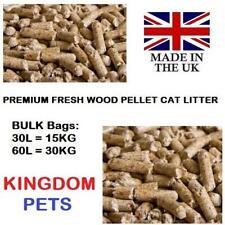 More details for cat litter wood pellets premium absorbent pine pellet 30l 15kg 60l 30kg bulk bag