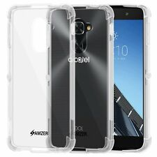 AMZER Pudding TPU X Protection Skin Fit Case For Alcatel Idol 4S - Crystal Clear