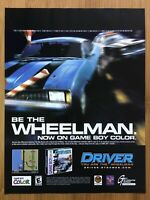 Driver Gameboy Color PS1 PC 1999 Vintage Print Ad/Poster Art Official Authentic