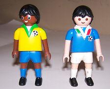 Playmobil 'Italy v. Brazil' (2) Soccer Figures ~ c.2006 Geobra