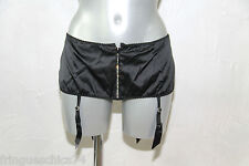Holder Suspenders Zipped Silk Black Naughty Janet Size M (38-40) Value