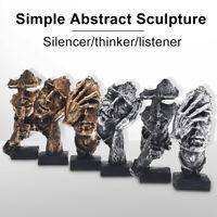 Hand mit Gesicht Denker Hörer Abstrakte Schalldämpfer Figur 16.5cm Kunst Deko