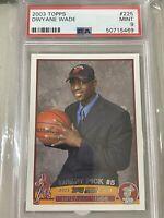 2003 Topps Dwyane Wade Rookie RC #225 PSA 9 Mint Miami Heat