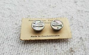 Vintage Buttons Abdul Kayoom Mother Of Pearl Fit - Racket-Ball , Czechoslovakia