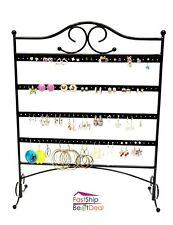 Jewelry Organizer Hanging Stand 60 Pair Earring Storage Holder Display Rack Hook