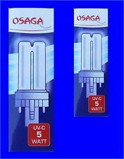 2 Stück UVC Ersatzlampe 5 Watt OSAGA für alle UV-C Klärgeräte UVC-Lampe
