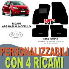 TAPPETINI AUTO SU MISURA PER FIAT GRANDE PUNTO MOQUETTE E GOMMA + 4 RICAMI EASY
