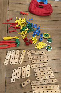 BRIO Builder Creative Wood Construction Play STEM Building Toy With Red Case