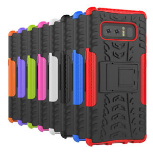 Samsung Galaxy Note 8 [Slim Armour] Rugged Tough Shock Proof Case Cover Stand