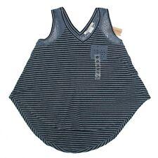 American Rag Womens Tank Top Sleeveless Shirt Blue Stripe Junior Size S New