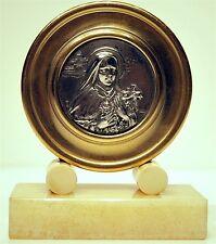 PLAQUE MEDAILLE RELIGIEUSE ART DECO Ste Thérèse de Lisieux Eugène ARSAL