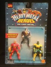 Marvel Heavy Metal Heroes Action Figures Die Cast Wolverine Iron Man Mandarin