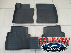 20 thru 21 Lincoln Corsair OEM Ford Tray Style Molded Black Floor Mat Set