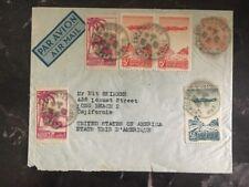 1947 Casablanca Morocco Airmail Cover To Long Beach Ca Usa