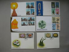THAILAND, 12x cover FDC 1978-1998, letter writing week