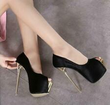 16CM Womens Sexy Open Toe Nightclub High Heel Sandals Platform Stilettos Shoes
