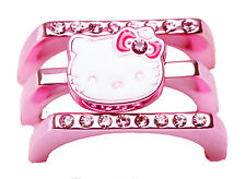 SANRIO - HELLO KITTY STACKABLE LADIES RING METALLIC PINK size 8