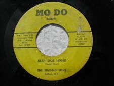 SINGING SONS~KEEP OUR HAND/DAY THE LORD HAD MADE~MO DO #109, Rare Gospel 45 (VG)