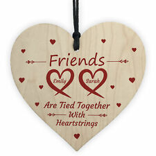 Personalised Friendship Gifts For Best Friend Wood Heart Thank You Birthday Gift