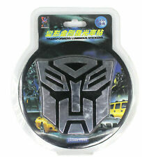 1PCS Car LED Light Auto Transformers Blue Glowing Car Sticker Emblem