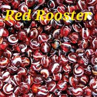 45 Marbles Red Rooster PeeWee Marbles by Mega Vacor FREE DOM SHIP