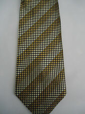 Tiso B Fellini Gold  Polka-Dot Striped Design Silk Tie 57.5""