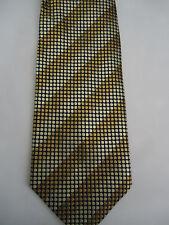 """Tiso B Fellini Gold  Polka-Dot Striped Design Silk Tie 57.5"""""""