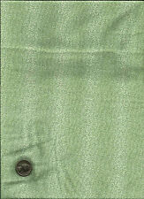 Pretty Micro Dot Leaf Floral (forms stripe) Print pale green on cream Fabric