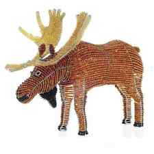 MOOSE ~ BEADED ANIMALS ~ BEADWORX ~ HANDCRAFTED GIFT ~ SCULPTURE ORNAMENT