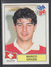 Panini - USA 94 World Cup - # 49 Marco Grassi - Helvetia (Green Back)