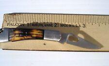 "3 Mini Double -Side Bone Handle Pocket Knife Blade Length; 1 1/2"" Lot Of 3 Knive"