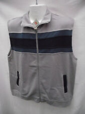 BNWT Mens Size Medium Rivers Brand Light Grey/Stripe Sleeveless Vest RRP $40