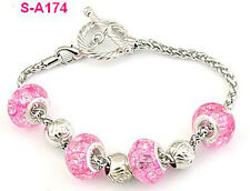 Free shipping handmade Dragon vein European charm beaded bracelet S-A174