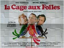 LA CAGE AUX FOLLES Affiche Cinéma GEANTE / WIDE Movie Poster MICHEL SERRAULT
