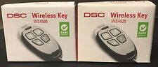 "Brand New ""2"" DSC WS4939 Wireless 4-Button Remote Alarm Keyfob, Battery included"