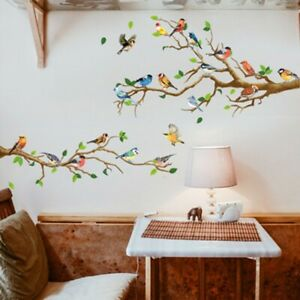 Tree Branch With Birds Bedroom Lounge Home Graphic Wall Art Sticker Vinyl Decal