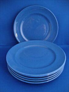 6 x Moorcroft Pottery Powder Blue Side Plates 7 1/4 inch diameter