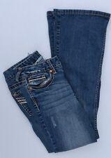 Vanity Sabrina 27 x 31 Womens Jeans Blue Denim Boot Cut Medium Wash Stretch