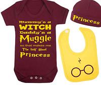 Half Blood Princess Harry Potter Inspired Baby Vest Hat and Bib Set Baby Gift